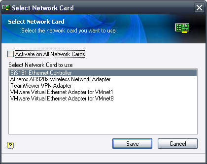 Select Network Card
