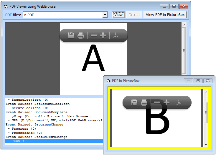 PDF in VBForm with no OCX/DLL (late binding)