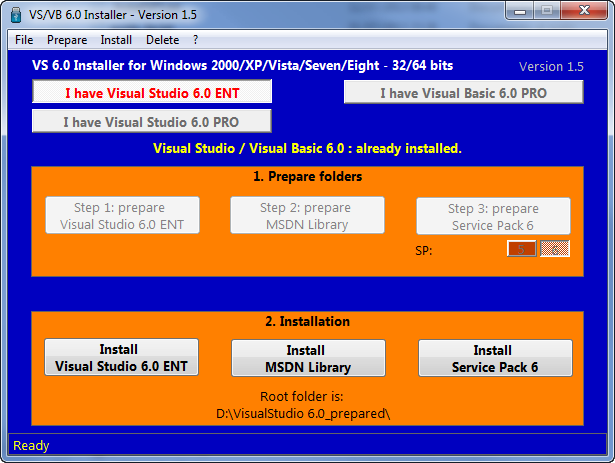Visual Studio 6 Installer